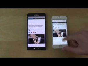 Test di velocità browser tra Samsung Galaxy Note 4 Android 5.0 Lollipop e iPhone 6 iOS 8.3 (VIDEO)
