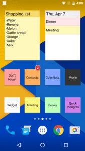 Lista applicazioni indispensabili per Android colornote blocco note notepad 2