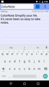 Lista applicazioni indispensabili per Android colornote blocco note notepad 3