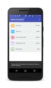 video compress opzioni