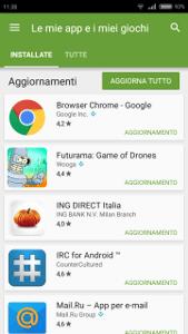aggiornare le applicazioni su Android 3