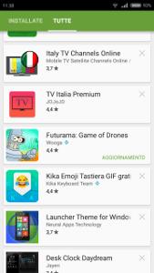aggiornare le applicazioni su Android 4