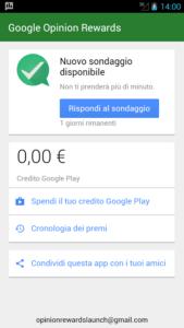 come guadagnare con Google Opinion Rewards 2