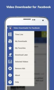 scaricare i video da Facebook con Android downloader video face for fb 1