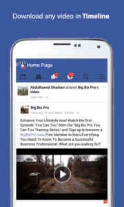 scaricare i video da Facebook con Android downloader video face for fb 2
