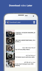 scaricare i video da Facebook con Android downloader video face for fb 4