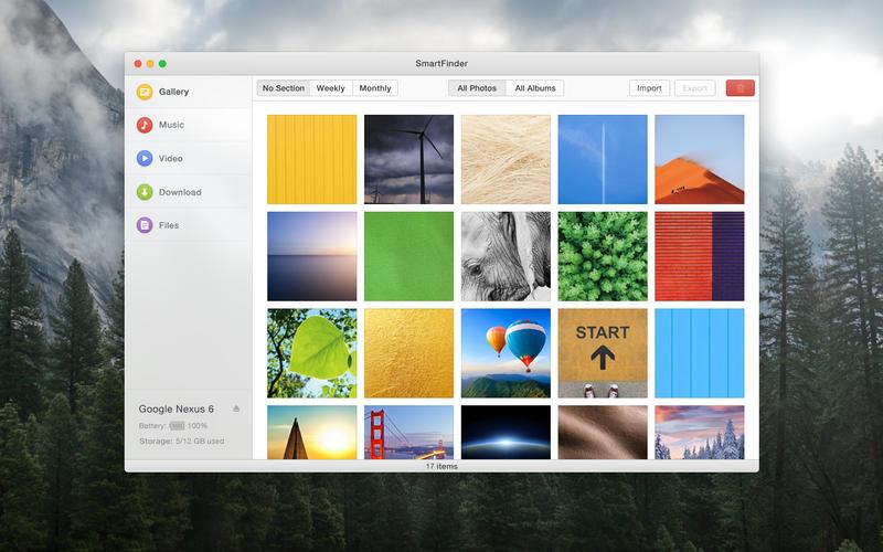 trasferire file tra Mac e Android con SmartFinder