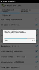 Come copiare i contatti android su SIM Copy to Sim card 3