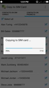Come copiare i contatti android su SIM Copy to Sim card 4