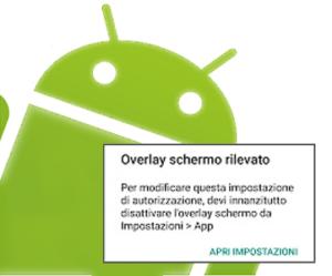 """Come risolvere il messaggio """"overlay schermo rilevato"""" su android"""