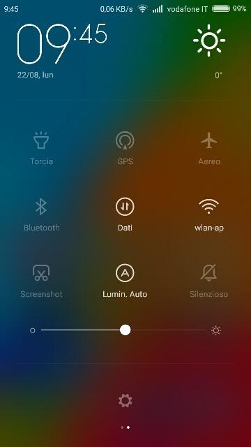 Come sostituire il music player nella barra delle notifiche di MIUI V6 con l'orologio 1
