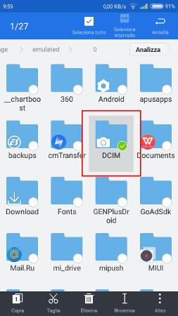 Come spostare foto da telefono a sd su Android 3