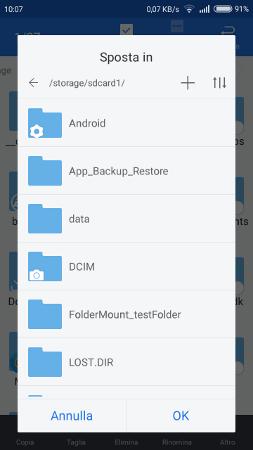 Come spostare foto da telefono a sd su Android 6